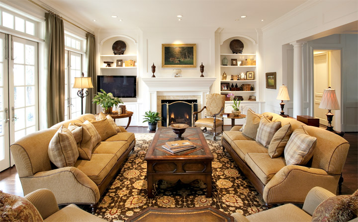 Asbury interiors traditional home designs for Classic house interior design