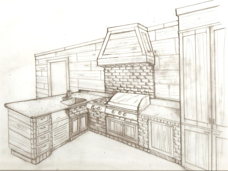 Asbury interiors sketches for Interior designs drawings